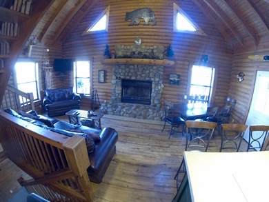 Bear necessities lodge east port marina and resort for Living room necessities